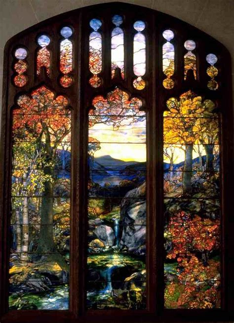 louis comfort tiffany stained glass windows louis comfort tiffany autumn landscape art pinterest