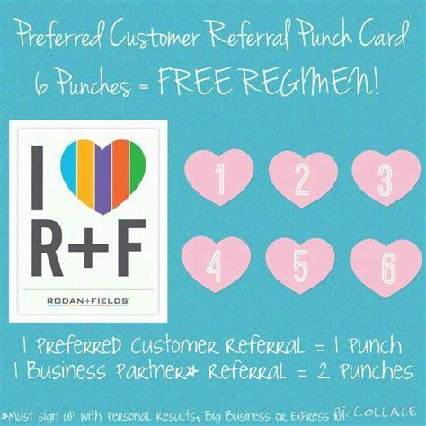 referral rewards card template referrals rewards message me at erinmurray myrandf