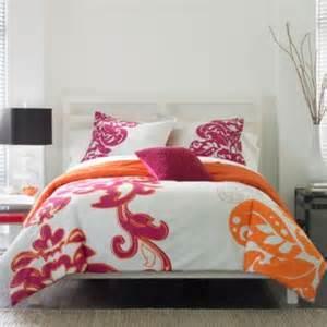 suzette comforter set grey pink orange bed room