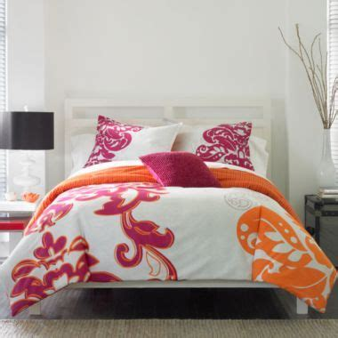 suzette comforter set grey pink orange bed room