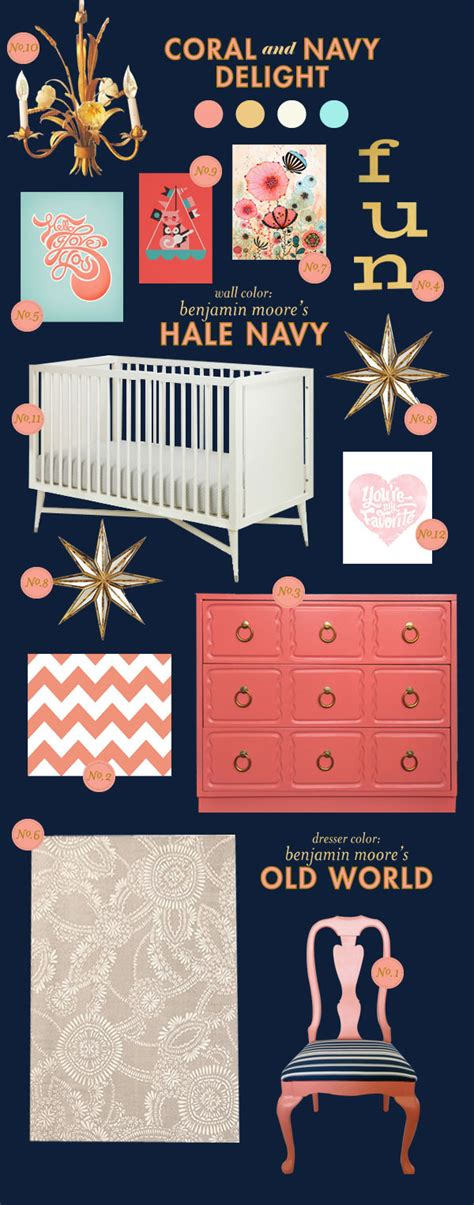 Coral And Navy Nursery by Coral And Navy Delight Lay Baby Lay Lay Baby Lay