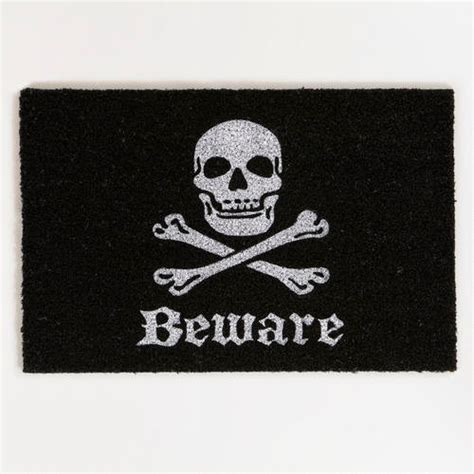 Skull And Crossbones Doormat by Skull And Bones Doormat Contemporary