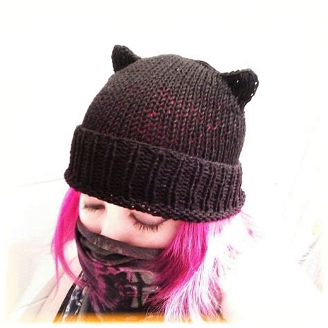 knitted cat hat knitted cat hat 183 an animal hat 183 knitting on cut out