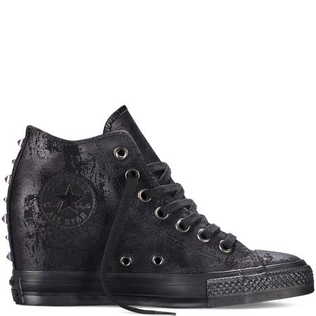 cuna hardware converse chuck taylor all star lux hardware black hi