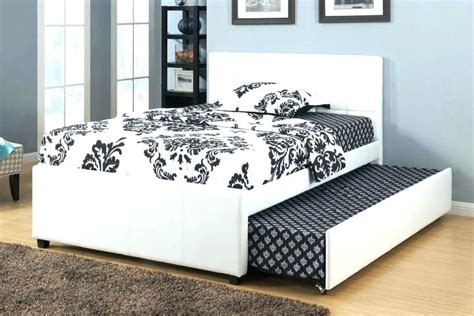 bed frame with trundle size headboard intended