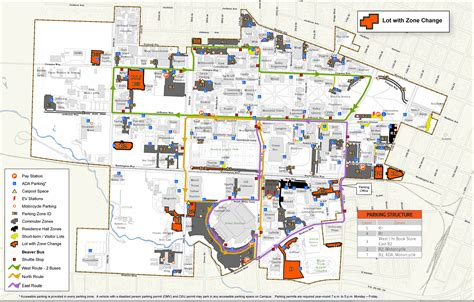 map of oregon colleges 2016 17 zonal parking changes finance and administration