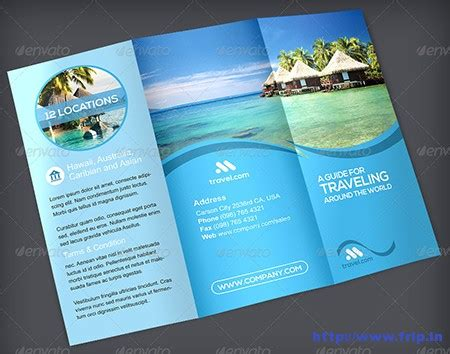Traveling Brochure Templates by 30 Best Travel Agency Trifold Brochure Print Templates