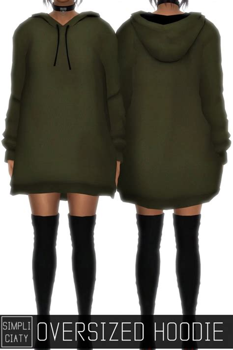 oversized sweater sims 4 cc simpliciaty oversized hoodie sims 4 downloads