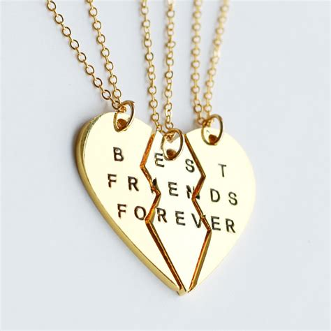 gold best friends necklace best friend forever by