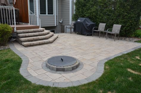 Patio And Firepit Paver Patio Steps And Fireplace Plymouth Minnesota Aspen Landscape Inc