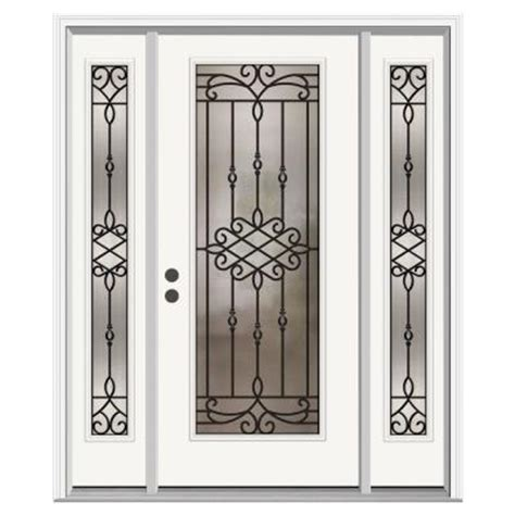 Home Depot Entry Doors With Sidelights by Jeld Wen 36 In X 80 In Sanibel Lite Primed Premium Steel Prehung Front Door With