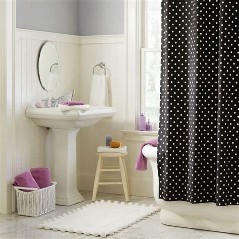 dot shower curtain simple rooms that use polka dot design twists to look adorable