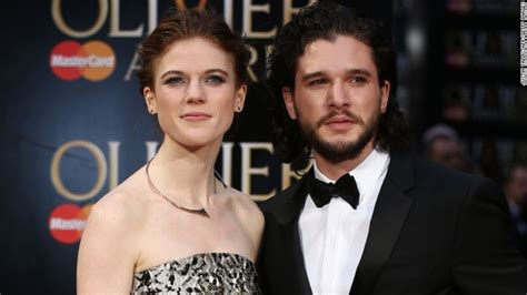 game of thrones actor engaged rose leslie and kit harington are engaged cnn