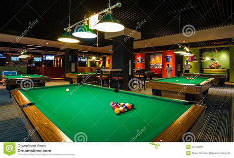 sports bar with pool tables billiard table editorial photo image 52742801