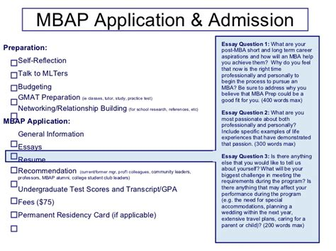 Mlt Mba Focus by What Are You Most About Essay Sle