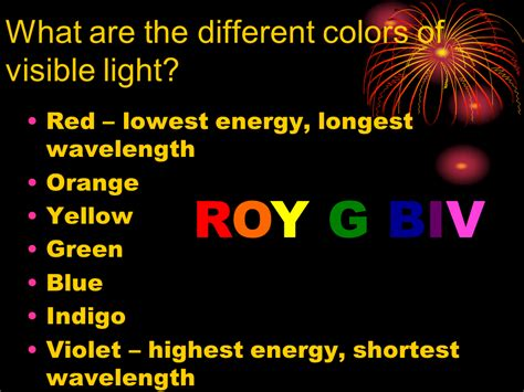 which color of visible light has the shortest wavelength visible light and color presentation physics sliderbase