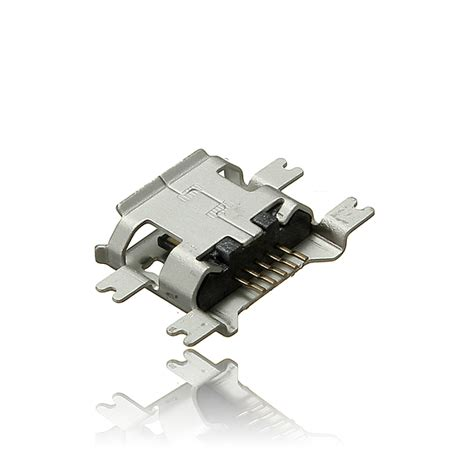 Smt Soket Micro Usb 5 Pin Konektor Tipe B micro usb type b 5pin socket 4legs smt smd
