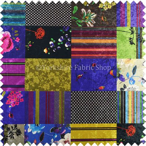 Patchwork Upholstery Fabric Uk - designed printed multi coloured