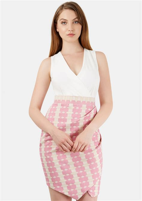 Dress Square 2 compare cheap 2 in 1 v neck pink square dress deals