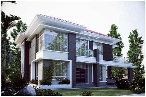 double storey detached house design 3d two storey house design modern house