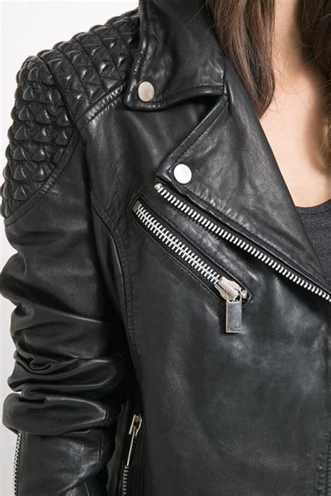 cazadora cuero chica chaquetas negras de mujer