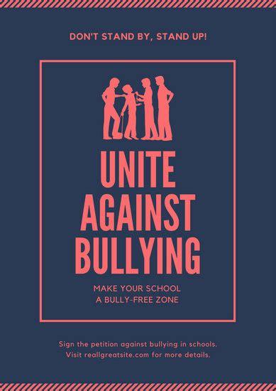 Customize 75 Anti Bullying Poster Templates Online Canva Anti Bullying Poster Templates