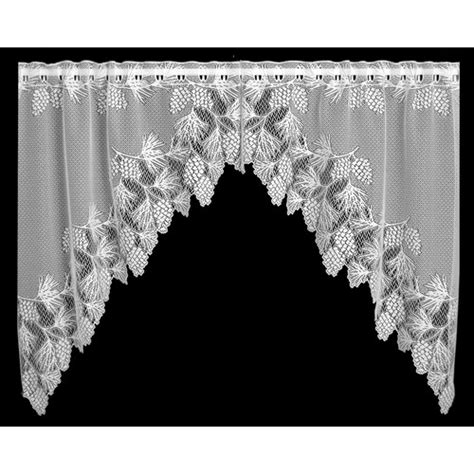 Lace Swag Valance Curtains heritage lace swag 72 quot curtain valance reviews wayfair