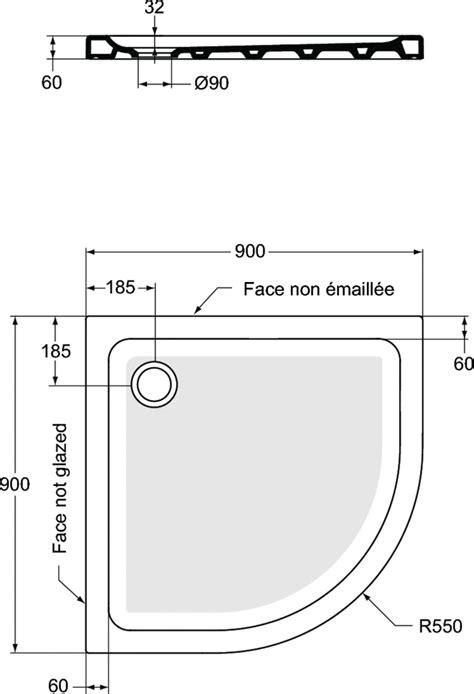 Colonne De Cuisine 2672 by Product Details R2672 Receveur Quart De Rond90 X 90 Cm
