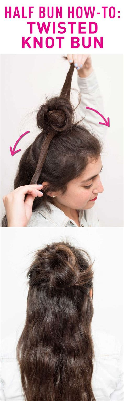 hairstyles how to do buns 17 tutorials to show you how to make half buns pretty