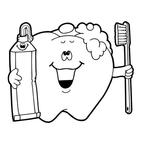 brushing teeth coloring sheet coloring pages