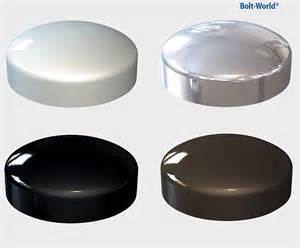 plastic dome cover cap chrome white black brown