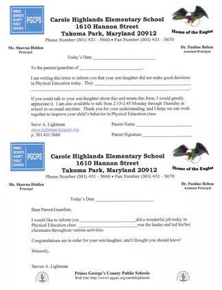 Parent Letter Physical Education Resume Portfolio Mr Lightman S Pe Website
