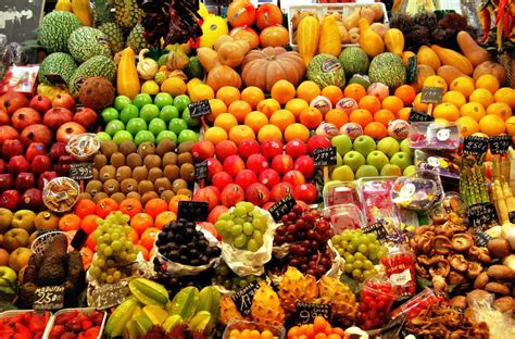 fruit market boqueria fruit market barcelona jigsaw puzzle in fruits