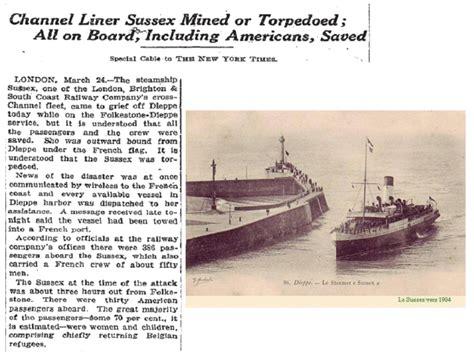 german u boats stood by the sussex pledge u s expansionism 1898 1919 timeline timetoast timelines