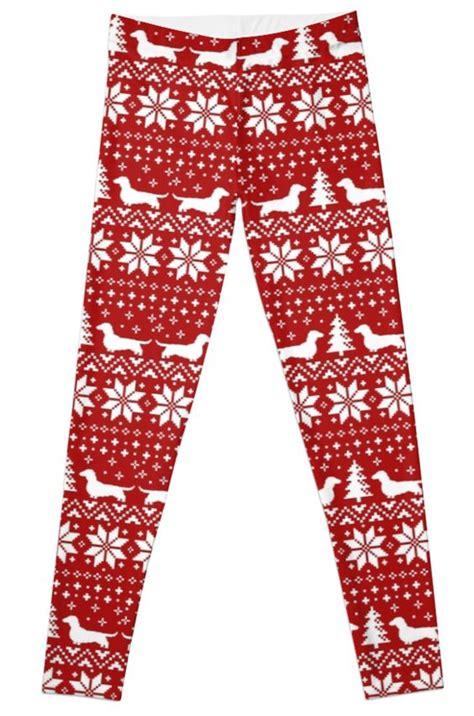 pattern christmas leggings dachshunds christmas sweater pattern women s t shirt