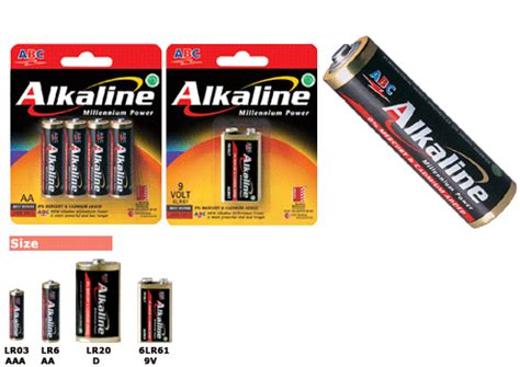 Batere Abc Aaa Power supplier stationery alat tulis kantor battery