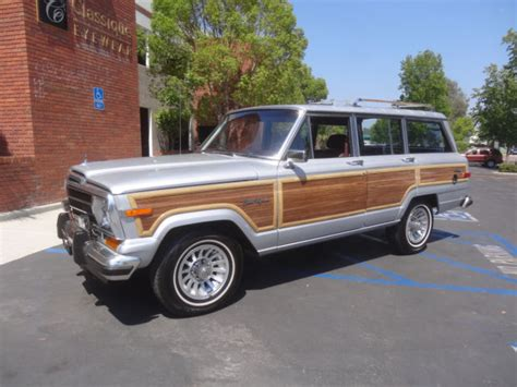lowered jeep wagoneer 1988 jeep wagoneer low miles collectors condition