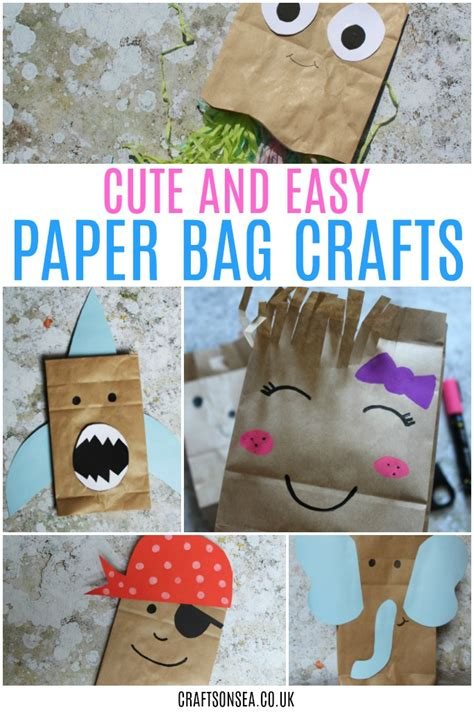 Paper Bag Craft Ideas For - paper bag crafts for crafts on sea