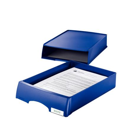 Office Supplies Plus Leitz Plus Letter Tray With Drawer Unit Black 52060001