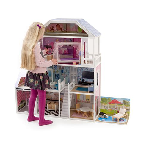tall dolls house new mamakiddies 1 3metre tall barbie wooden dolls house furniture garage pool ebay
