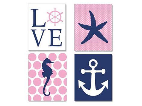 Pink Navy Nautical Nursery Bay Girl Nautical By Pink And Navy Nursery Decor