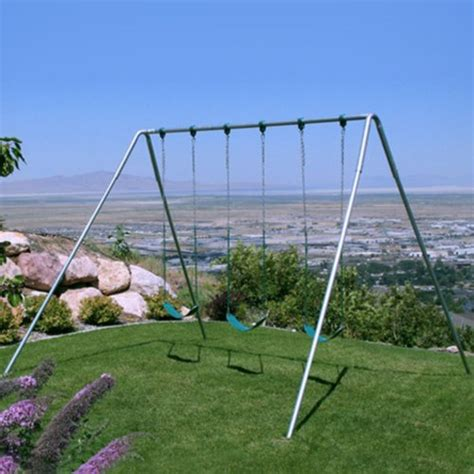 tall swing deals af 30 swing set 10 foot tall heavy duty 3 swing