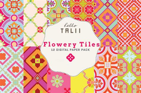 the top 5 best blogs on graphic tiles flowery tiles digital paper patterns on creative market