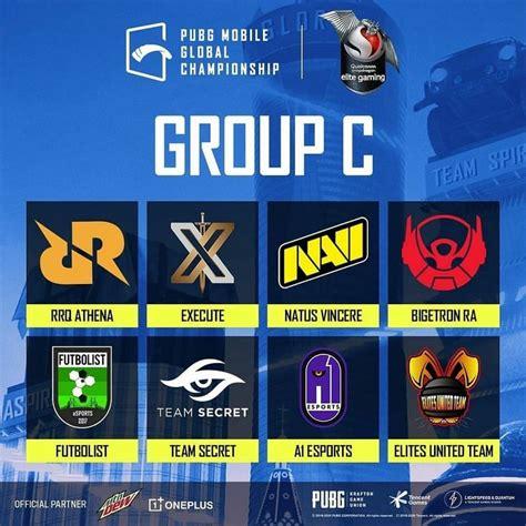 pubg mobile global championship aka pmgc groups schedule