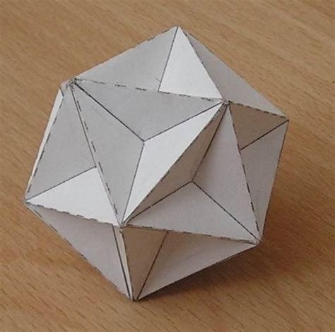 Origami Mathematical Models - paper model great dodecahedron origami