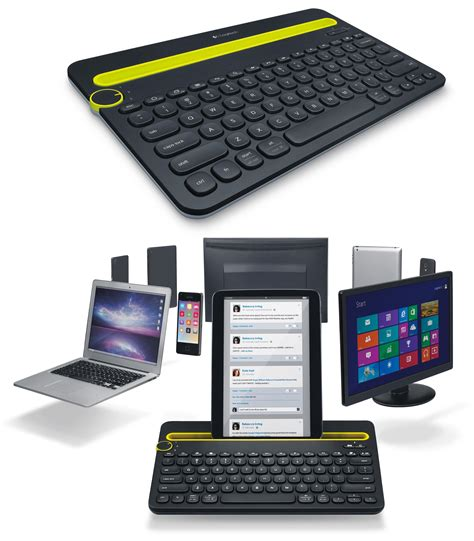 Keyboard Multi Device Bluetooth Logitech K480 Black logitech bluetooth multi device keyboard k480 for computers tablets and smartphones