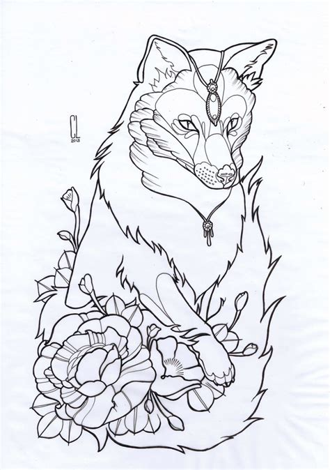 tattoo flash fox clare lake fox thigh tattoo design is reserved please do