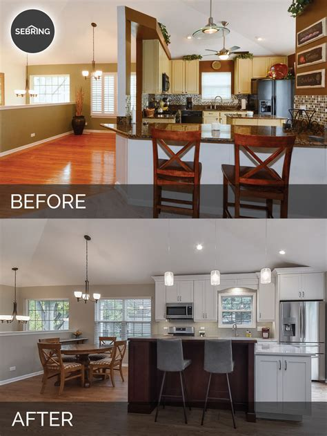 Home Design Before And After by Bill Carol S Kitchen Before After Pictures Home