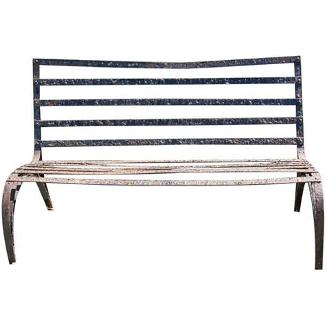 art benches art deco wrought iron bench at 1stdibs