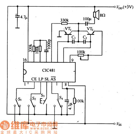 integrated circuit series cic481 series musical integrated circuit other circuit